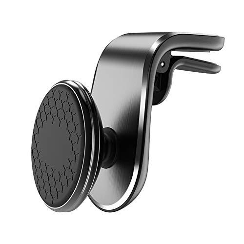 nimabi Cargador De Coche Inalámbrico Soporte De Teléfono De Ventilación De Aire De Coche con Sujeción Automática Montaje De Succión Magnética Universal para Coche Negro 2
