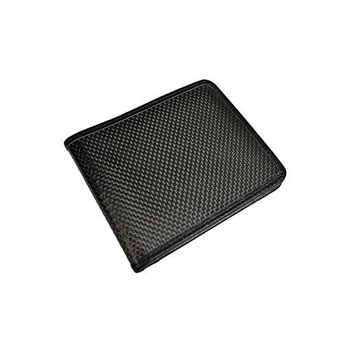 BASTION BSTN229 Carbon Fiber Bi-Fold Wallet, Black