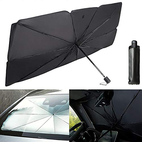 ANLEM Car Front Window Sunshades Cars Windshield Umbrella Foldable Keep Car Cool, Easy to Use/Store 26x49 Inch