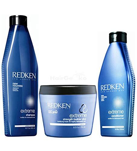 Redken Extreme Set – Shampoo 300ml + Conditioner 250ml + Strength Builder Plus 250ml
