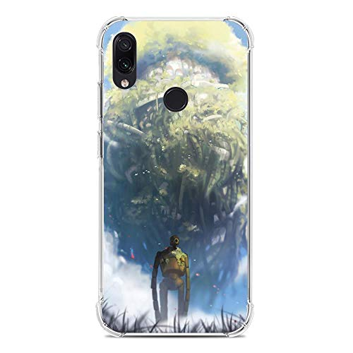 Case for XIAOMI Redmi Note 7/7 Pro, Pazu-Castle in The Sky Sheeta 8 Transparency TPU Silicone Rubber Gel Edge Flexible Printed Phone Case
