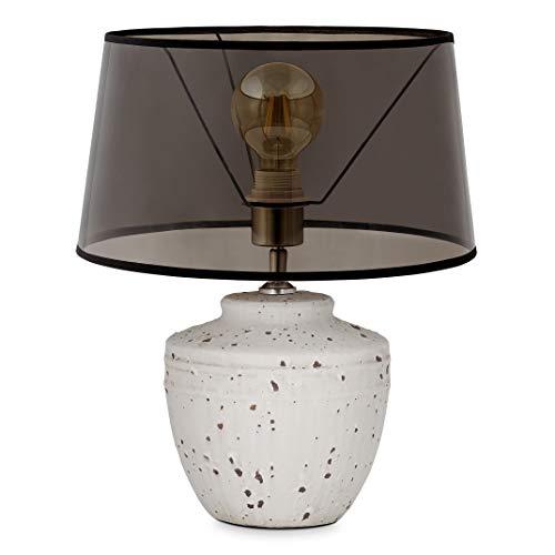 Home sweet home tafellamp Lina - beton/keramiek met lampenkap Smoke - smoke