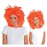 Amscan Faux Crazy Costume Unisex Wig, One size, Orange