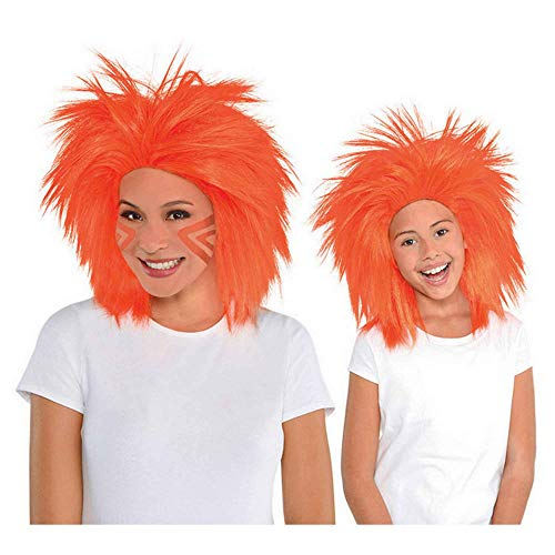 Amscan Crazy Wig Party Supplies, One size, Orange