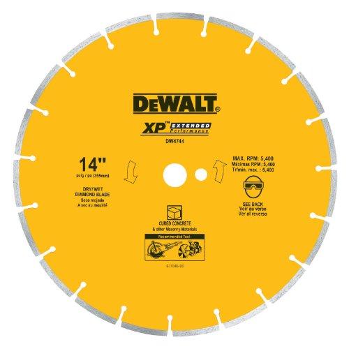 DEWALT DW4744 14-Inch Diamond Segmented Saw Blade with 1-Inch Arbor for Cured Concrete