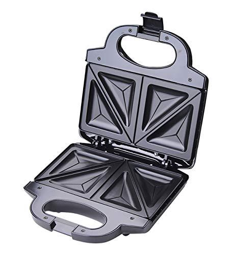 Family Care Sandwichera eléctrica, Revestimiento Antiadherente, Capacidad 2 Sandwiches, Acero inoxidable, color negro, 750 W