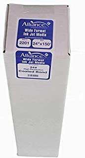 Alliance High Resolution Coated Bond Wide Format Inkjet Paper 24lb, 3