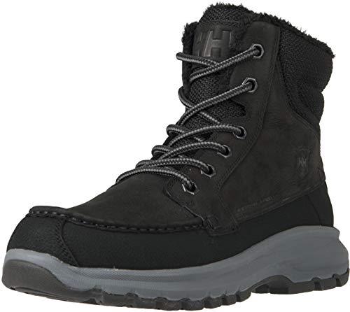 Helly-Hansen Men's Garibaldi V3 Waterproof Winter Snow Boot Warm with Grip, New Wheat/Black/Soccer Gum, 10.5