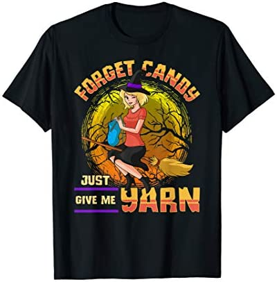 Yarn Lover Sewing Knitting Witch T Shirt product image