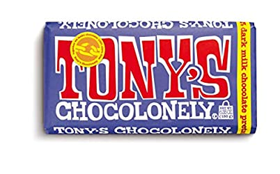 Tony's Chocolonely 42% Dark Milk Chocolate Bar with Pretzel and Toffee, 6.35 Ounce