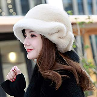 Winter New Otter Hat Ladies Tidy Fur Hat Big Floating Warm Heating Beret Gray