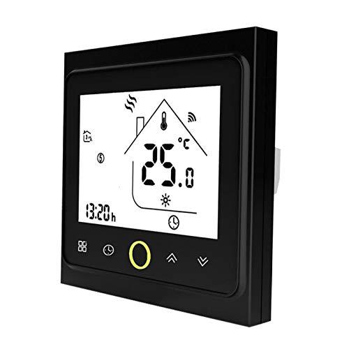 non_brand Termostato Inteligente Controlador de Temperatura Digital Circulación Semanal Negro