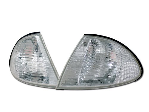 Topline Autopart Crystal Clear Signal Parking Corner Lights Lamp Yd 99-01 Bmw E46 3-Series 4D 4Dr