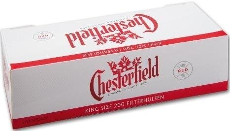 Chesterfield Red King Size - Casquillos de cigarrillos (1000 unidades, 5 x 200)