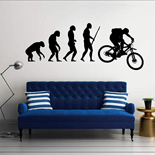 Wall stickers,Evolution Of Man Mountainbike Kunst Design Home Dekorative Vinyl Wandbild KreativeWandaufkleber Kunstdekor 30 * 74 Cm