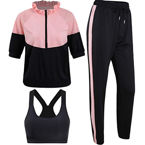 HFWJHH 3-delige set sports fitness fitness set sjaal & sneldrogend yoga set zomerjurk set voor sport en hardlopen