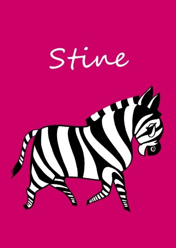 personalisiertes Malbuch / Notizbuch / Tagebuch - Stine: Zebra - A4 - blanko