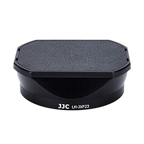 JJC LH-JXF23 Black Gegenlichtblende für Fujifilm Fujinon XF 23mm f1.4 R WR, XF 56mm F1.2 R, XF 56mm F1.2 R APD Objektiv/Kit mit Slide Design Kapuze Gap - Ersetzt Fujifilm LH-XF23