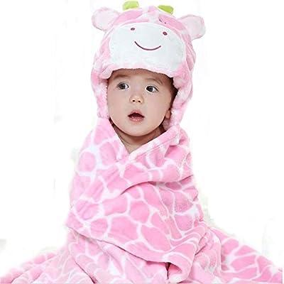 SheShy Baby Boy and Girls Cute Animal Bathrobe Hooded Ultra-soft Bathing Wrap Blanket,0-3 Years Old Keeps Baby Dry and Warm