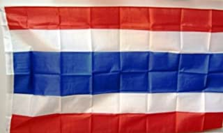 Thailands flagga på cirkelns skala. 35 x 59 tum av profimmaterial