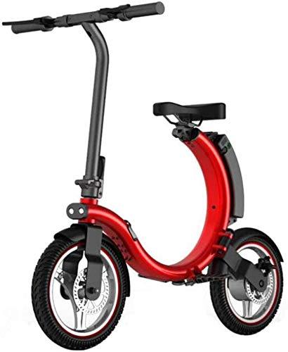 Bicicleta eléctrica de nieve, Bicicletas rápidas y Eléctrica en adultos eléctrico bicicleta for adultos adolescente plegable bicicleta eléctrica con iluminación LED Velocidad máxima 28 km / h 18KM Cor