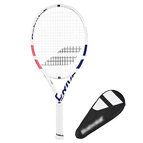 Raquetas Tenis Tenis Individuales para Hombres Y Mujeres Trajes para Principiantes Zapatillas De Tenis 26 Pulgadas (Color : Blanco, Size : 26in)