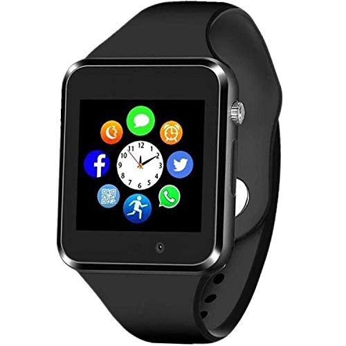 Smart Watch - Aeifond Bluetooth Smartwatch Touch Screen Smart Wrist Watch Fitness Tracker with Camera Pedometer SIM TF Card Slot Compatible iPhone iOS Samsung Android for Kids Women Men (Black)