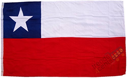 Trends4cents Topkwaliteit - Vlag Chili vaandel, 90 x 150 cm, extreem scheurvast, geen goedkoop Chinae, stofgewicht ca. 100 g/m2, zeer robuust