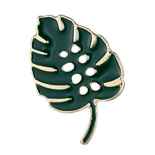 null KARAT by schmuckrausch Pin Brosche Anstecknadel Anstecker Hutschmuck Fensterblatt Blatt Zimmerpflanze