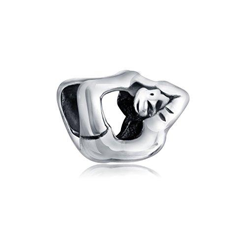 Yoga Pose Yogi Gymnastik Athletische Charm Bead Charms Für Damen Oxidiert 925 Sterling Silber Passt Europäischen Armband