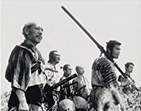 a直輸入、大きな写真「七人の侍、黒澤明監督作品 、志村喬、三船敏郎、1175