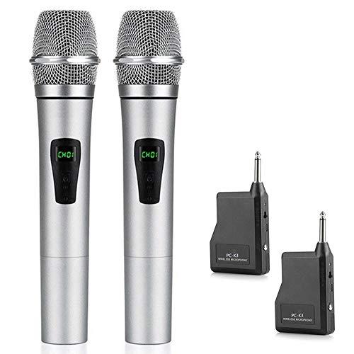 SHENGY Draadloze microfoon, dynamische handmicrofoon, draadloos microfoonsysteem voor karaoke-avonden en house-feestjes, om plezier te hebben van de mixer, PA-systeem, luidspreker