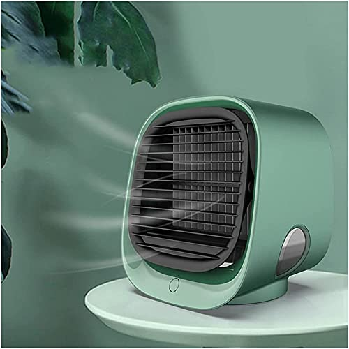WXFCAS USB Mini Air Cooler Fan Air Cooling Conditioner with Night Light Portable Humidification Desktop Air Cooler Multifunction Summer Portable Tools