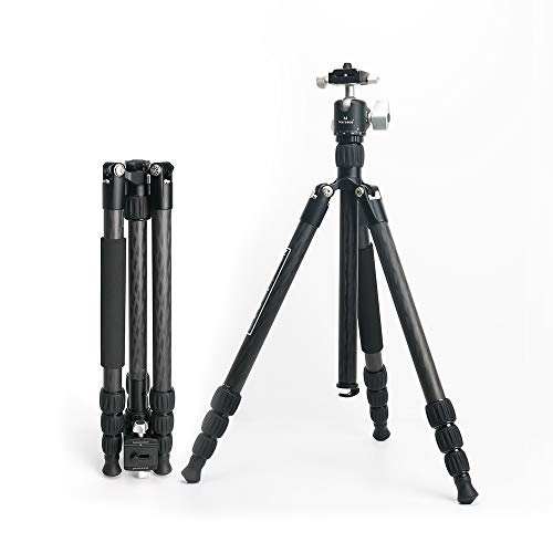 Marsace ET-1541T CamereTripod with 360 Degree Ball Tripod for Sony Nikon Canon DSLR Camera Fit for Entry-Level Photographer Multi-Angle Adjustable Tripod