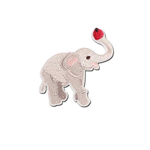 Parches Para Ropa 7 Piezas De Dibujos Animados Elefante Hierro En Parches Para Ropa Diy Bordado Raya Ropa Animal Lentejuelas Apliques Insignia Tela-1106