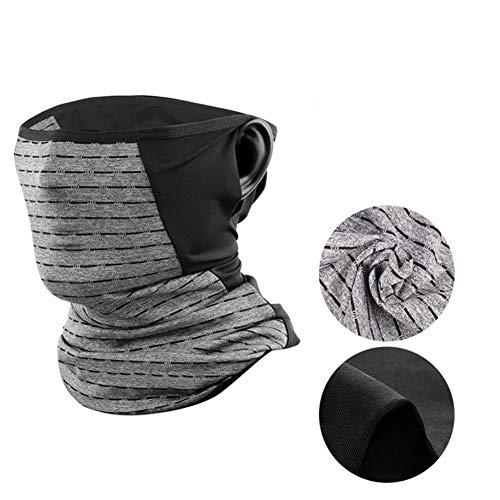 Unisex Kopftuch, nahtlos, multifunktional, Anti-Spray, atmungsaktiv, weich, für Sport & Outdoor Camping & Wandern L grau
