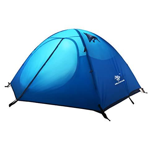 Azarxis 2 Posti Tenda da Campeggio, 3 Stagioni Tenda Ultraleggera da Trekking Spiaggia Montagna Escursionismo Alpinismo (Blu)