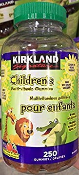 Kirkland Signature Children's Multi-Vitamin Gummies, 80% Organic Ingredient, 250 Gummies