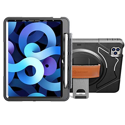 New Trent iPad Air 10.9 4th Gen Case, iPad Pro 11 3rd Gen Case with Pencil Holder, iPad Air 4 Case 10.9 2020 with Screen Protector, Kickstand, Hand Strap iPad Air 4 2020, iPad Pro 11 3rd Gen 2021
