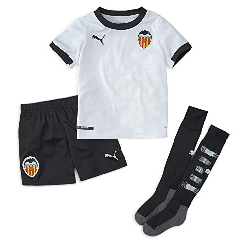 PUMA Valencia CF Temporada 2020/21-Home Minikit White Black Camiseta Primera Equipación, Niño, Negro, 110