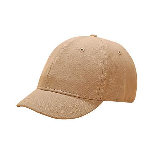 Zorte トレランキャップ ワークキャップ ツバ短 かわいい ショートブリム 野球帽 スポーツ帽子 UVカット アウトドアスポーツキャップ ファションハット 無地 (カーキ)