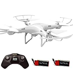 720P HD CAMERA: This CW4 Camera Drone is equipped with 2MP HD camera to take aerial photos and videos while flying. Movie resolution has been upgraded to 1280 x 720 at 30 FPS. With removable Micro SD card stores enough for several flights. ONE KEY TA...