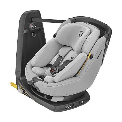 Maxi-Cosi Axissfix Plus Silla de coche giratoria 360° isofix, silla auto reclinable y contramarcha, con reductor bebé recién nacido, 0 meses - 4 años, color authentic grey