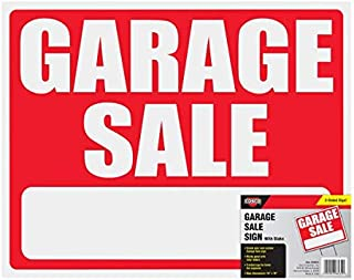 """Cosco Sign and Stake Kit, GARAGE SALE, 15"""" x 19"""" (098232)"""