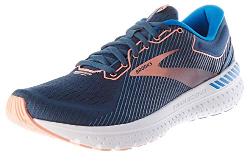 Brooks Womens Transcend 7 Running Shoe - Majolica/Navy/Desert - B - 7.5