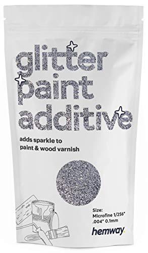 Pintura aditiva de microfina con purpurina de Hemway, emulsión a base de agua, 100 g, plateado