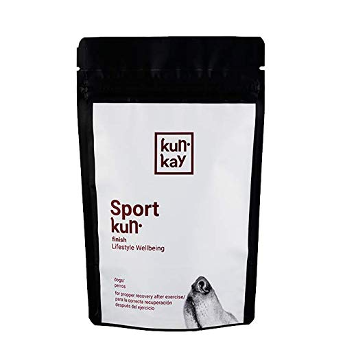 KUNKAY Sportkun Finish Perros – 5x70 g | Suplemento para la Correcta recuperación después del Ejercicio físico