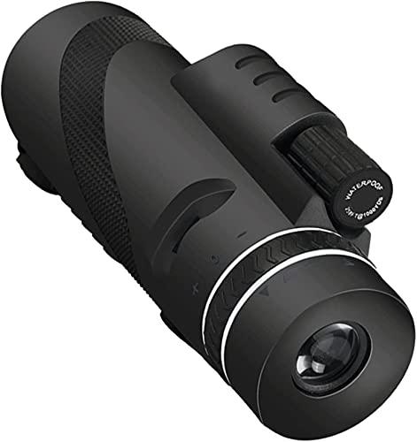 dh-4 Telescópio monocular, monóculo 40 x 60 com suporte para smartphone, tripé à prova d'água, telescópio monocular de alta potência