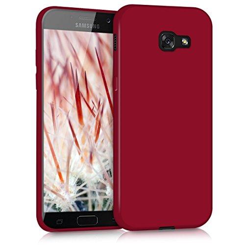 kwmobile Custodia Compatibile con Samsung Galaxy A5 (2017) - Cover in Silicone TPU - Back Case per Smartphone - Protezione Gommata Rosso Matt