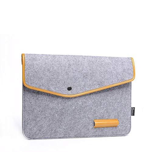 13-15 Inch Felt Laptop Sleeve Portable MacBook Case Protector (15.4 inch, Light Grey)